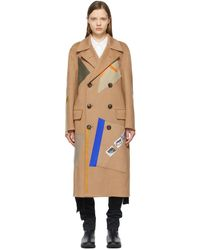 Raf Simons Beige Sterling Ruby Edition Patches Coat - Natural