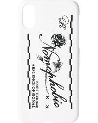Raf Simons ホワイト ロゴ Iphone X ケース