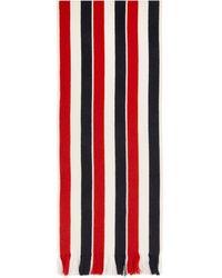 Thom Browne Foulard en laine double-face blanc RWB - Multicolore