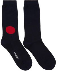 Blue Blue Japan - Navy And Red Dot Socks - Lyst