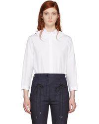 Nina Ricci - White Ruffle Collar Shirt - Lyst