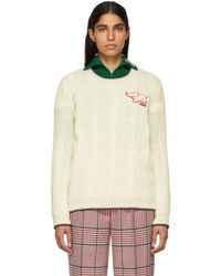 Gucci - White Elephant Patch Sweater - Lyst
