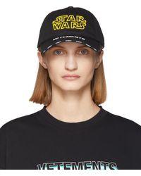 Vetements - Star Wars Edition ブラック ロゴ キャップ - Lyst