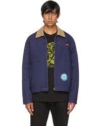 Rassvet (PACCBET) Navy Cotton Zip Jacket - Blue