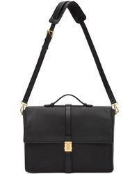 Tom Ford Black T Clasp Briefcase