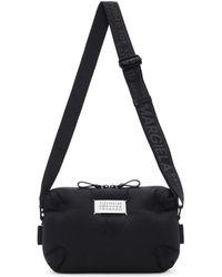 50716f784f5b Prada Two-tone Leather Shoulder Bag in Black for Men - Lyst