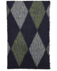 President's Foulard multicolore en mohair à motif argyle - Gris