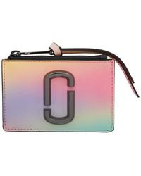 Marc Jacobs Women's The Snapshot Airbrush Top-zip Multi Wallet In White