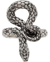 Stolen Girlfriends Club Silver Hiss Ring - Metallic