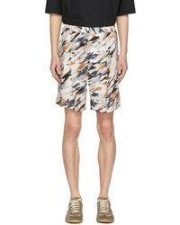 Lemaire - Multicolor Print Elasticized Shorts - Lyst