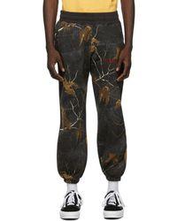 AWAKE NY Pantalon de survetement gris Classic Outline Logo