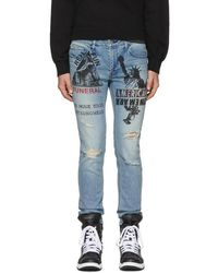 Diet Butcher Slim Skin | Blue Anagram Damage Skinny Jeans | Lyst