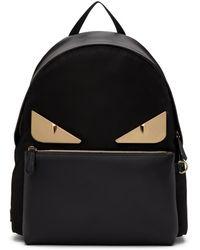 1bd7b88702b6 Fendi - Black And Gold Bag Bugs Backpack - Lyst
