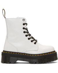 Dr. Martens White Jadon Retro Quad Boots