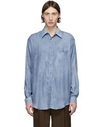 Schnayderman's - ブルー オーバーサイズ Faded シャツ - Lyst