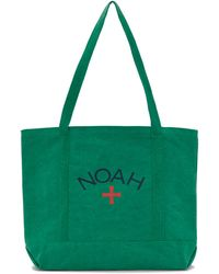 Noah グリーン リサイクル キャンバス Core ロゴ トート