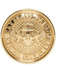 Balmain - Gold Coin Earring - Lyst