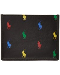 Polo Ralph Lauren ブラック オールオーバー ポニー カード ケース