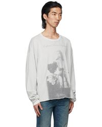 Enfants Riches Deprimes Gray 'my First Orgasm' Long Sleeve T-shirt - White