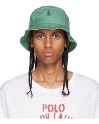 Polo Ralph Lauren グリーン バケット ハット