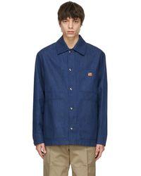 Acne Studios Indigo Denim Workwear Jacket - Blue