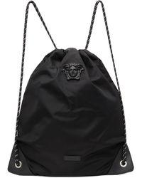Versace ブラック La Medusa ドローストリング バックパック