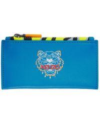 KENZO - ブルー タイニー タイガー ジップ カード ホルダー - Lyst