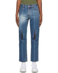 ADER error Blue Collage Pollshing Jeans