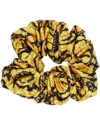 Versace Black & Gold Barocco Scrunchie - Multicolor