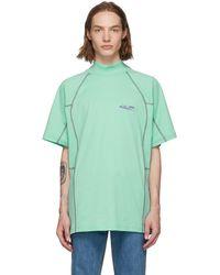 CALVIN KLEIN 205W39NYC グリーン Scuba モック ネック T シャツ
