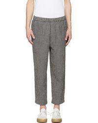 McQ - Black And White Gingham Neukolln Trousers - Lyst