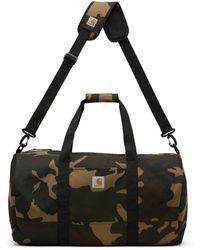 Carhartt WIP Khaki Camo Wright Duffle Bag - Black