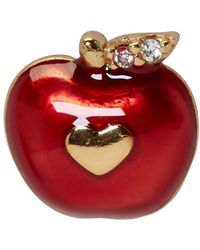 Marc Jacobs - Red Single Apple Stud Earring - Lyst