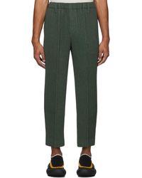 Homme Plissé Issey Miyake Khaki Light Pleated Pants - Green