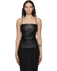 Wolford Black Faux-leather Edie Tank Top
