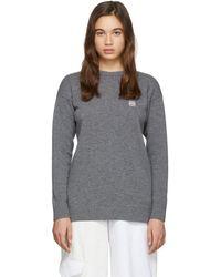 Loewe - グレー ウール アナグラム セーター - Lyst