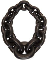 Monies Collier noir Chunky Chain Seoul