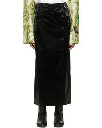 Raf Simons ブラック スリット スカート