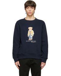 Polo Ralph Lauren ネイビー Polo Bear スウェットシャツ - ブルー