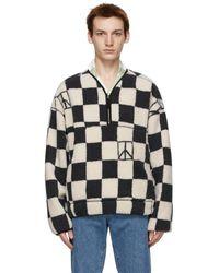 Saturdays NYC グレー And ホワイト Astor セーター