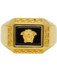 Versace - Bague doree Medusa Square - Lyst