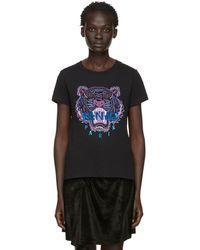 e6fdb642 KENZO - Black Limited Edition Holiday Tiger T-shirt - Lyst