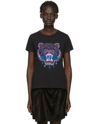 KENZO - T-shirt noir Tiger Holiday edition limitee - Lyst