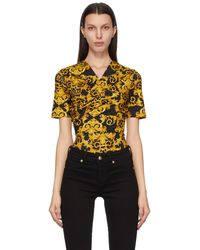 Versace Jeans Couture - ブラック New Baroque ボディスーツ - Lyst