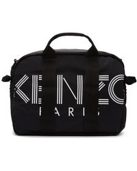 KENZO Black Logo Duffle Bag