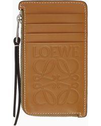 Loewe タン コイン カード ホルダー - ブラウン