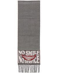 Stella McCartney ブラック And ホワイト No Smile No Service マフラー