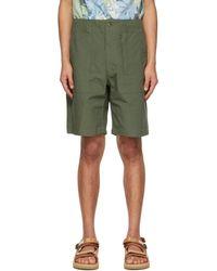 Engineered Garments Enginee Garments Ripstop Fatigue Shorts - Green