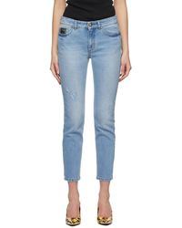 Versace Jeans Couture - Blue Faded Slim Jeans - Lyst