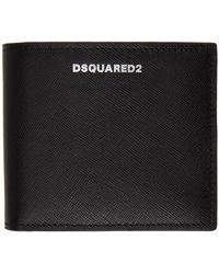 DSquared² ブラック ロゴ ウォレット